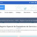 Portal de ingreso SISPRO para encontrar datos de capacidad hospitalaria instalada en Colombia
