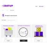 pantalla inicial de la plataforma Datup con la carga de datos para Pronóstico de Ventas, Pronóstico de Demanda y Pronóstico de Abastecimiento