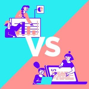 Ilustración Expertos de Negocio vs expertos Inteligencia Artificial